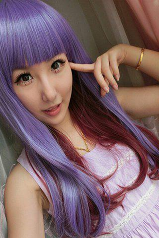 Fashion Long Full Bang Straight Double Color Synthetic Cosplay Lolita Wig