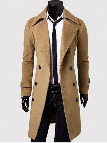 Unique Double Breasted Overcoat with Side Pockets