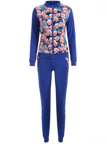 Fashion Long Sleeve Floral Printed Sweatsuit