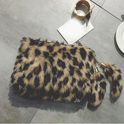Affordable Leopard Furry Crossbody Bag