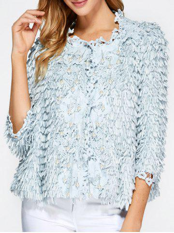 Fashion Beaded Feather Decorate Jacket