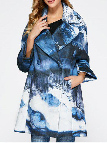 Buy Chinese Painting Woolen Blend Coat