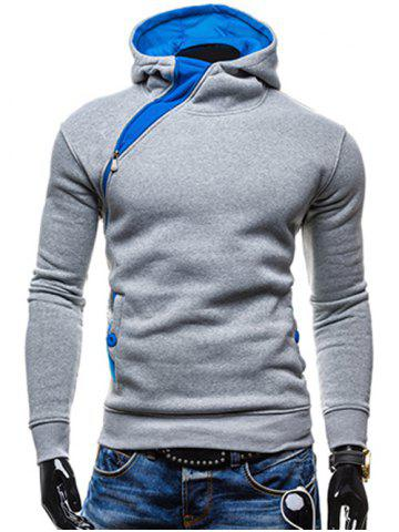 Online Side Zip Up Button Pocket Pullover Hoodie