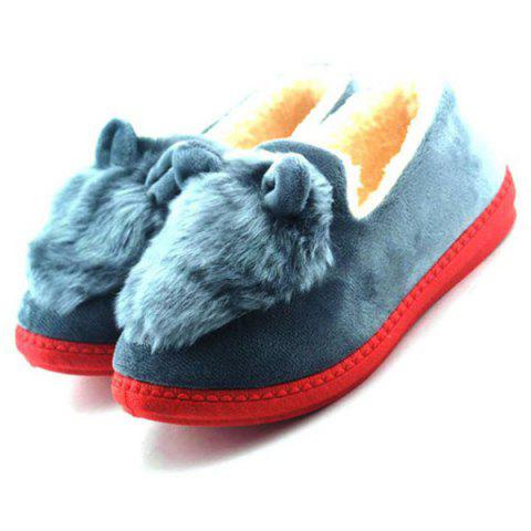 Latest Flocking House Slippers - GRAY 38 Mobile