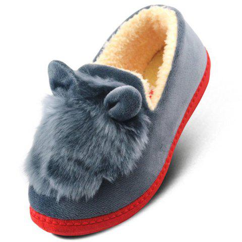 Chic Flocking House Slippers - GRAY 38 Mobile