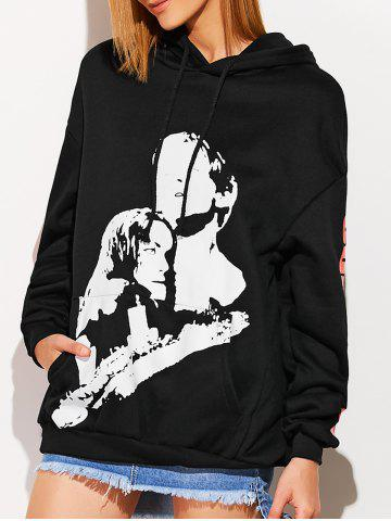 Outfits Front Pocket Oversized Hoodie BLACK ONE SIZE