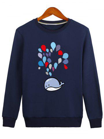 Unique Water Drop Printed Crew Neck Sweatshirt