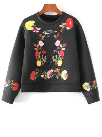 Store Boxy Embroidered Sweatshirt BLACK L