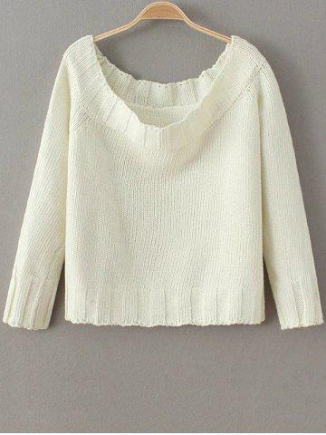 Sale Cropped Off The Shoulder Fitting Sweater