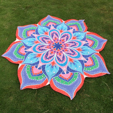 Online Flower Beach Throw