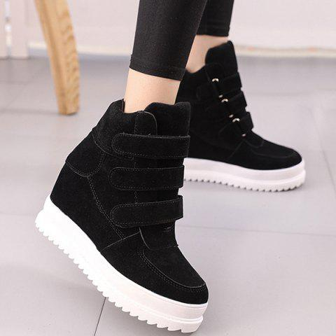 Buy Stitching Hidden Wedge Ankle Boots - Black 37