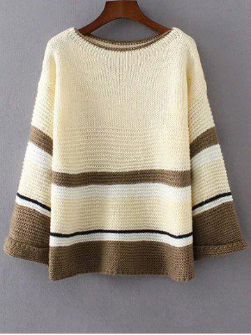 Hot Loose Colorful Color Block Sweater