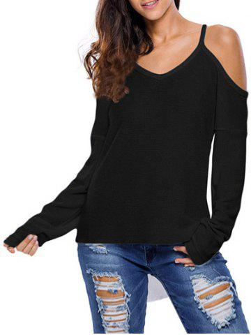 Outfits Cami Cold Shoulder Loose Knitwear BLACK S