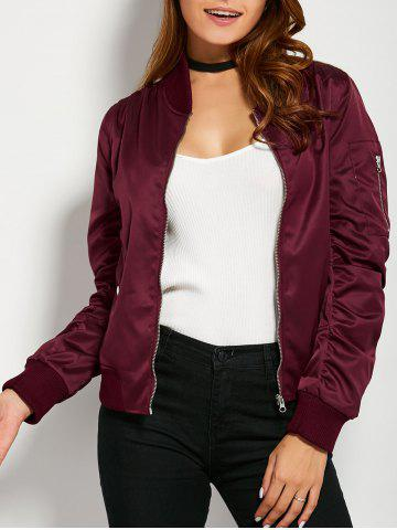 Outfit Zippered Bomber Jacket