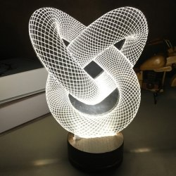 3D Visual Room Atmosphere Double Heart Shape LED Night Light