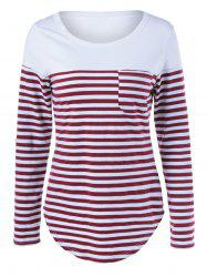 Single Pocket Striped Tee