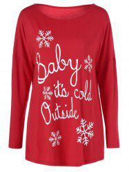 Snowflake Funny Tee - RED L