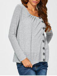 Side Button Up Cardigan -