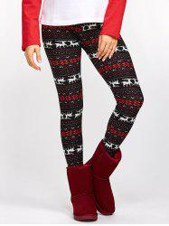 Fawn Snowflake Christmas Leggings - COLORMIX