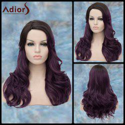 Adiors Long Side Parting Curly Purple Ombre Lolita Synthetic Wig - COLORMIX