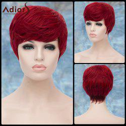 Adiors Short Fluffy Neat Bang Straight Lolita Synthetic Wig