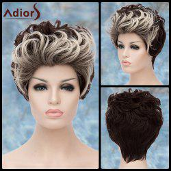 Adiors Double Color Short Fluffy Curly Lolita Synthetic Wig