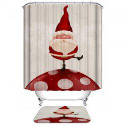Merry Christmas Santa Claus Waterproof Barhroom Shower Curtain