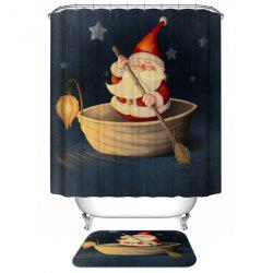 Santa Claus Waterproof Christmas Shower Curtain Barhroom Decor