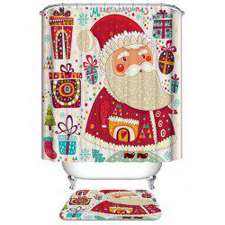 Polyester Waterproof Christmas Gift Washable Bathroom Curtain - COLORFUL