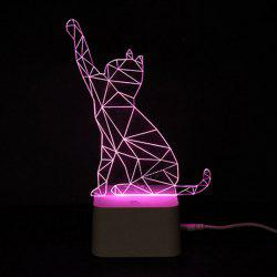 Colorful Remote Control 3D Visual Atmosphere LED Night Light