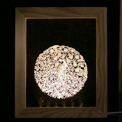 Novelty Gift 3D Table Decor Wooden Photo Picture Frame LED Night Light