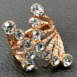Rhinestone Octopus Shape Cuff Ring