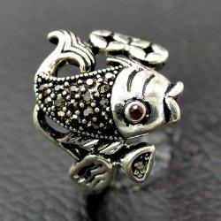 Vintage Fish Animal Embossed Ring