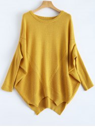 Relaxed Fit Batwing Sweater -