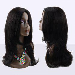 Kanekalon Long Middle Parting Slightly Curled Synthetic Wig