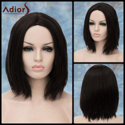 Adiors Medium Straight Shaggy Middle Parting Synthetic Wig -