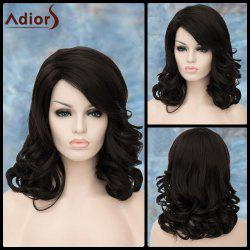 Adiors Medium Side Parting Shaggy Wavy Synthetic Wig