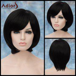 Adiors Short Oblique Bang Straight Bob Synthetic Wig