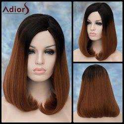 Adiors Medium Side Parting Straight Tail Adduction Synthetic Wig -