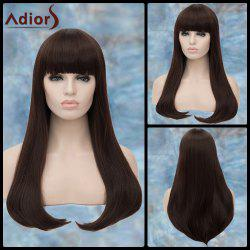 Adiors Long Full Bang Straight Tail Adduction Synthetic Wig