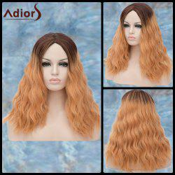 Adiors Long Middle Parting Shaggy Wavy Ombre Synthetic Wig