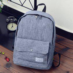 Wide Padded Straps Nylon Backpack - GRAY