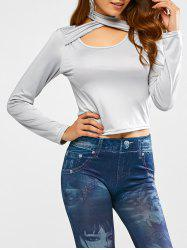 Scoop Neck Cutout Cropped Top -