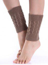 Cable Knitted Boot Cuffs -