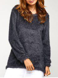 Asymmetric Pullover Mohair Sweater