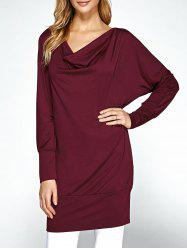 Cowl Neck Dolman Sleeve Long Sweatshirt