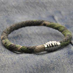 Faux Leather Camouflage Bracelet - COLORMIX