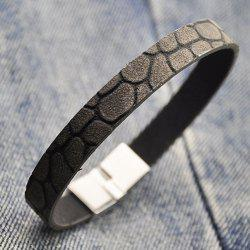 Vintage Alloy Faux Leather Bracelet