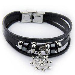 Artificial Leather Rudder Strand Bracelet