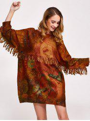 Fringe Tribal Sweater Dress -